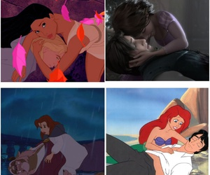 ariel, beauty and the beast, and belle image