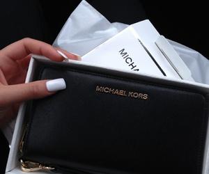 Michael Kors, black, and nails image