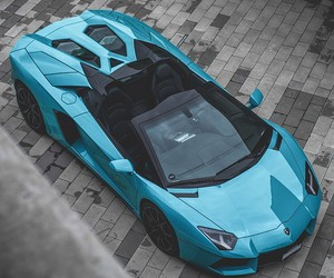 car, blue, and Lamborghini image