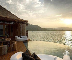sea, luxury, and relax image