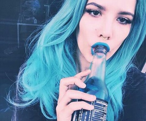 halsey, blue, and grunge image
