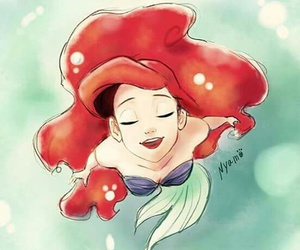 ariel, draw, and little mermaid image