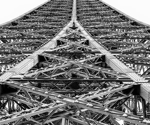 black and white, eiffel tower, and etsy image