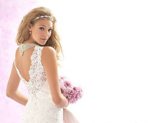 backless, lace, and bride image
