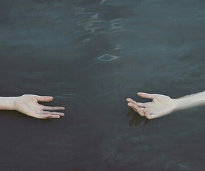hands, grunge, and water image