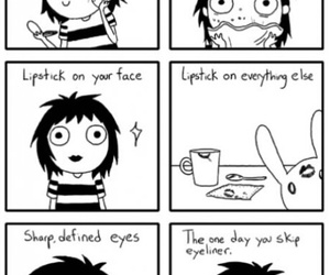 funny, makeup, and comic image