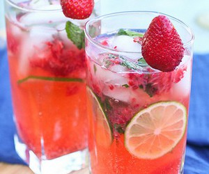 strawberry and drink image