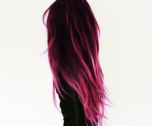 hair, dress, and black image