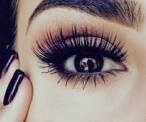 cils, fille, and mascara image