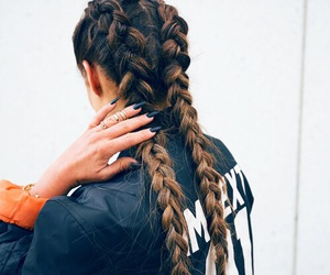 hair, braid, and nails image