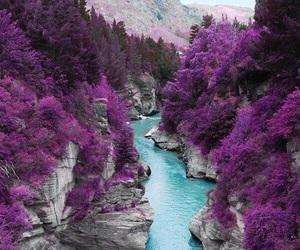 blue, mountain, and purple image