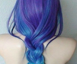 blue hair, colored, and color hair image
