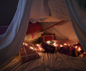 blanket, fort, and pillow image