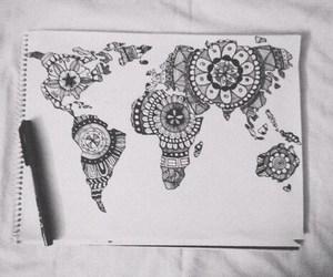 world, drawing, and art image