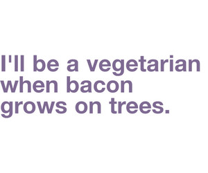 bacon, text, and typography image