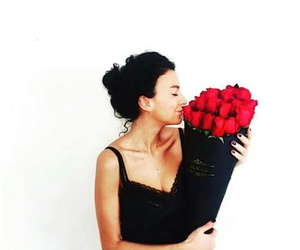 beauty, black, and roses image