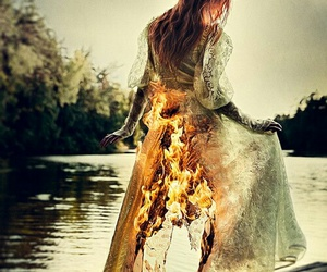 fire and dress image