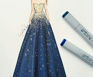 beautiful, blue, and draw image