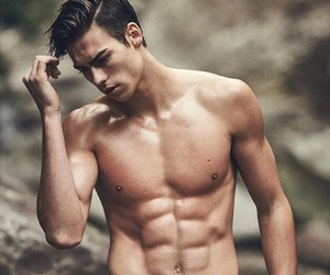 abs, Hot, and hunk image