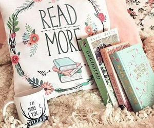 beautiful, bed, and books image