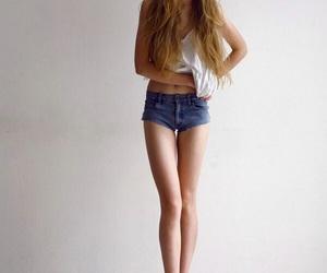 girl, legs, and skinny image