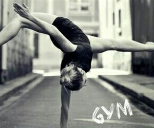 girl, gym, and gymnastic image