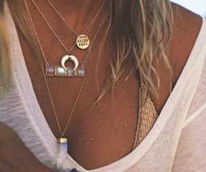 necklace, summer, and beach image