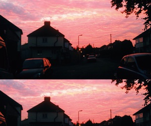 evening, pink, and sky image
