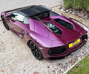 car, luxury, and pink car image