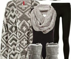 outfit, winter, and black image