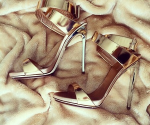gold, luxury, and shoes image