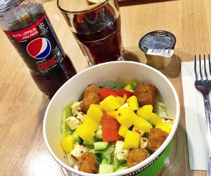 drink, falafel, and fitness image