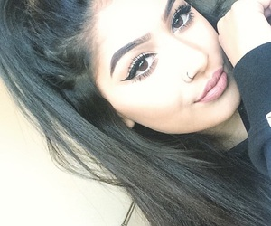 eyebrows, pretty, and hair image