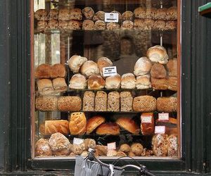 bread, bakery, and france image