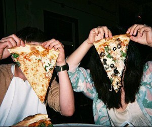 pizza, grunge, and friends image