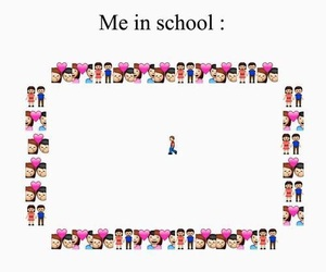 school, me, and alone image