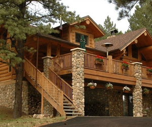 cabins, Houses, and landscape image