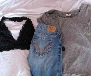 grey, hollister, and jeans image