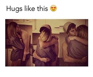 love, hug, and couple image