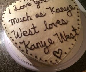 cake, kanye west, and funny image