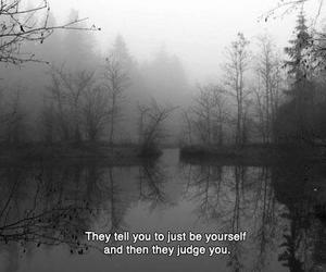 quote, black and white, and judge image