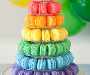 macaroons, sweet, and dessert image