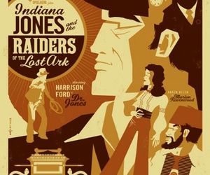 graphic design, Indiana Jones, and poster image