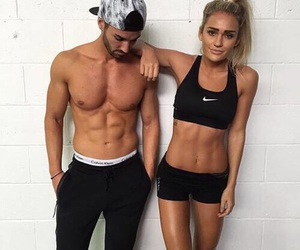 fitness, nike, and couple image