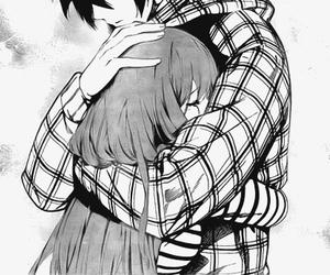anime, love, and hug image