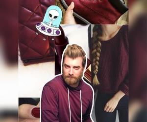 alien, maroon, and rhett and link image