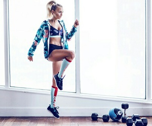 girl, fitness, and training image