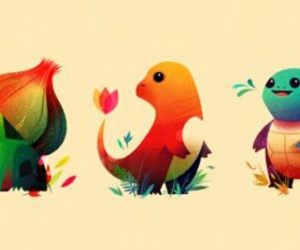 pokemon, bulbasaur, and squirtle image