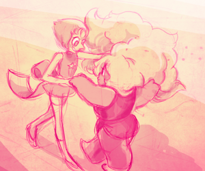 amethyst, pearl, and steven universe image