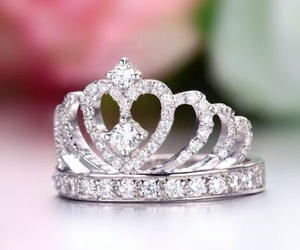 girl, beauty, and crown image